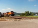 BNSF 7646 sb Stack Train at Beach Harbor Road